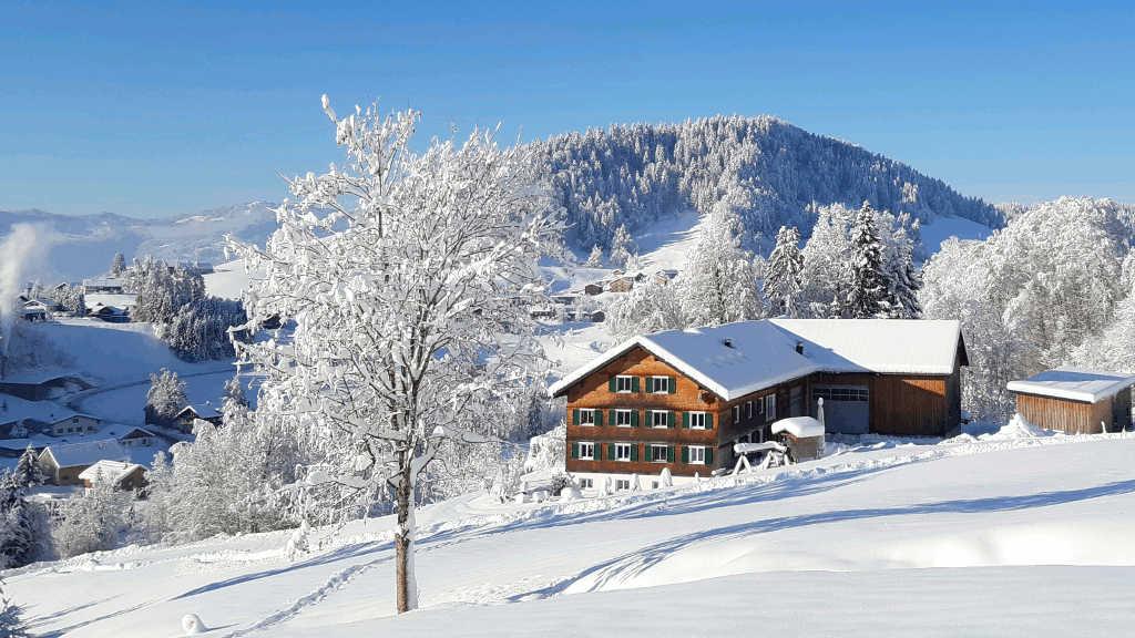Ferienhof Dürlinde im Winter
